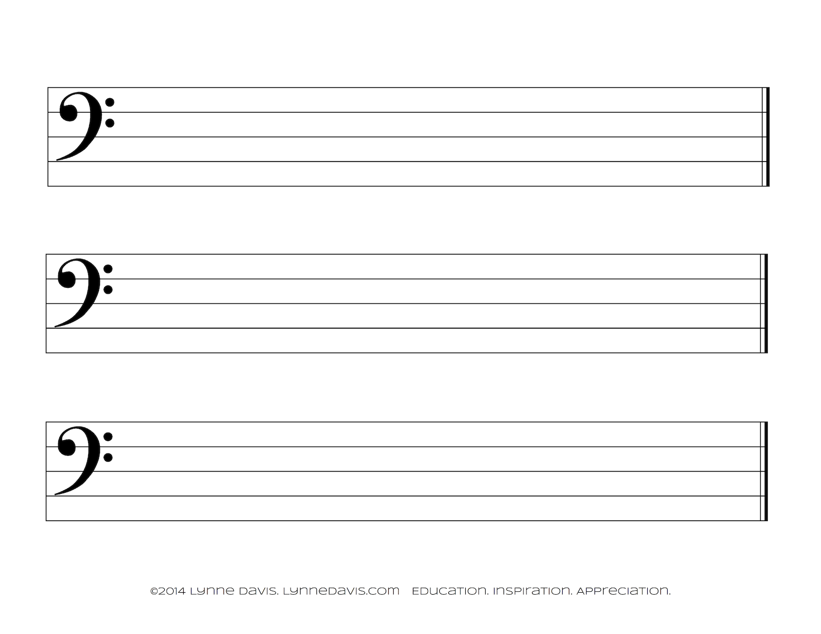 The gallery for --> Bass Clef Staff Paper