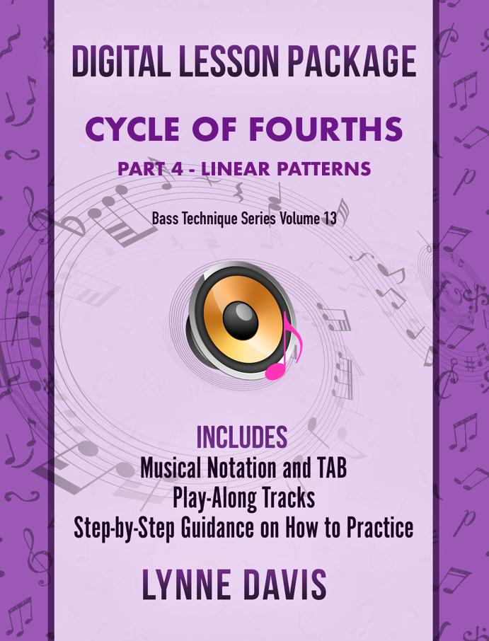 Cycle of Fourths Linear Patterns for Bass Guitar