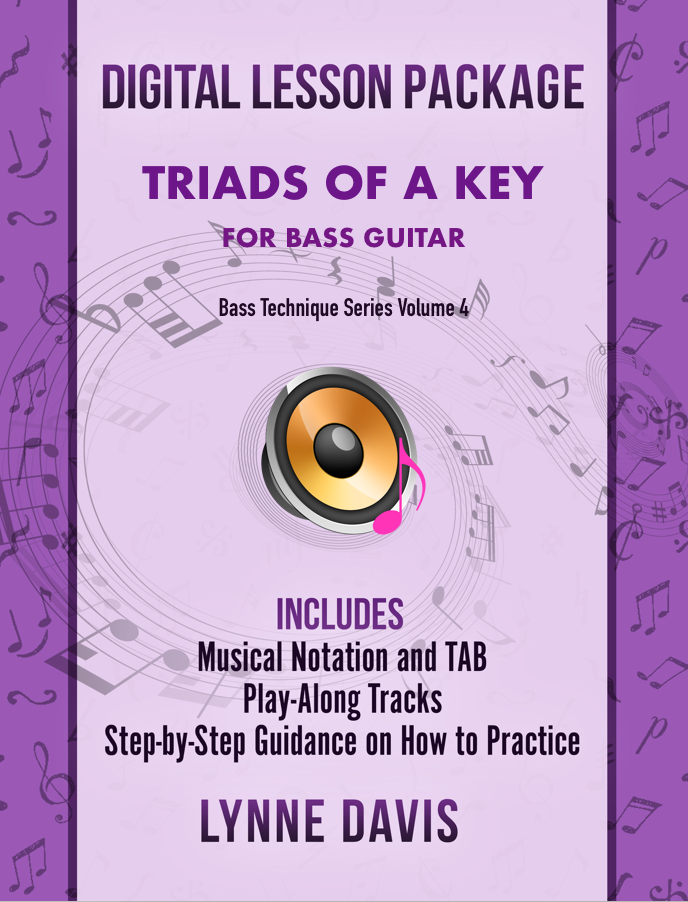 Triads of a Key for Bass Guitar